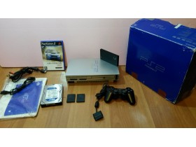 SONY PS2 + HARD DISK 320GB + NETWORK ADAPTER