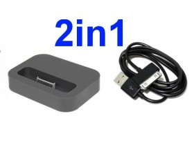 STONI PUNJAC DOCK + USB KABL ZA iPHONE 2 3G-3GS 4G 4GS