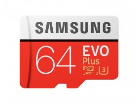 Samsung 64GB Micro SD Card SDXC EVO PLUS 100 mb/s 4K U3