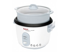 Tefal RK1011 Rice Cooker with Steamer Insert, White