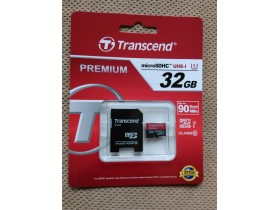 Transcend 32GB Micro SD Card SDHC 90mb/s sa adapterom