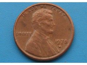 "USA - 1 Cent ""Lincoln Memorial Cent"" 1978 D"