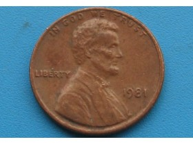 "USA - 1 Cent ""Lincoln Memorial Cent"" 1981"