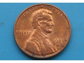 "USA - 1 Cent ""Lincoln Memorial Cent"" 1983 D"