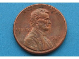 "USA - 1 Cent ""Lincoln Memorial Cent"" 1987 D"