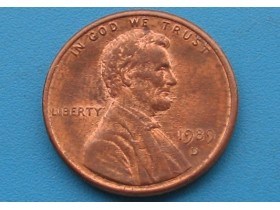 "USA - 1 Cent ""Lincoln Memorial Cent"" 1989 D"
