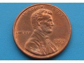 "USA - 1 Cent ""Lincoln Memorial Cent"" 1993 D"