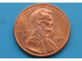 "USA - 1 Cent ""Lincoln Memorial Cent"" 1995 D"