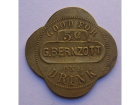 USA-Good for one Drink-G.Bernzott-5 centi