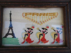 Vintage goblen PARIS-Moulen Rouge