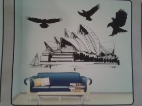 Wall Sticker #NOVO 4D Utisak