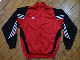 adidas: red and black L/XL