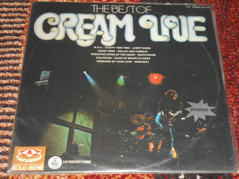 cream - the best of cream live 2xlp MINT !!!