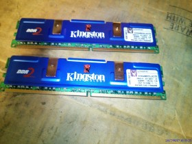 ram memorije kingston ddr2  2x1gb ,ispravne