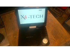 x4-tech  9inch  portable dvd player , model  x4-tech te