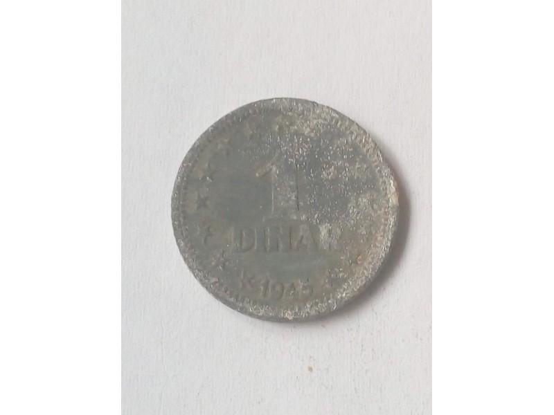 1 Dinar 1945.godine - Jugoslavija -