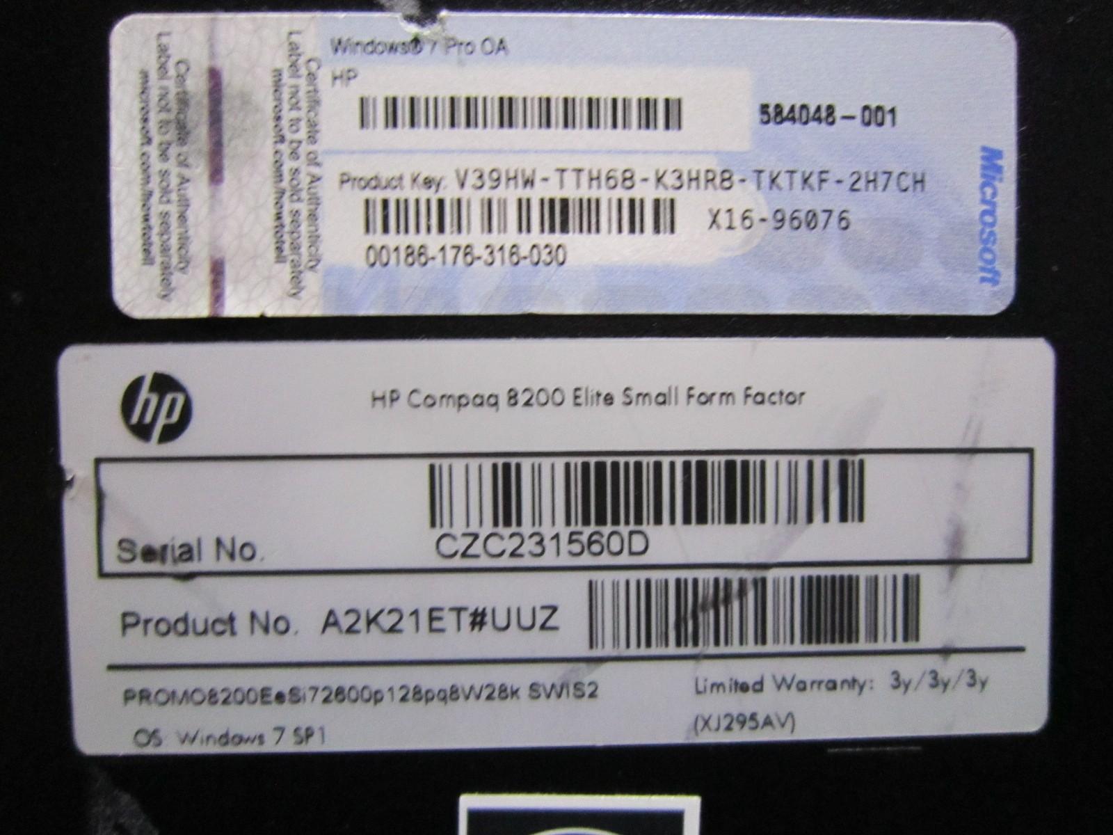 HP Compaq 8200 Elite - Core i7 2600 3 4 GHz (74188777) - Limundo com