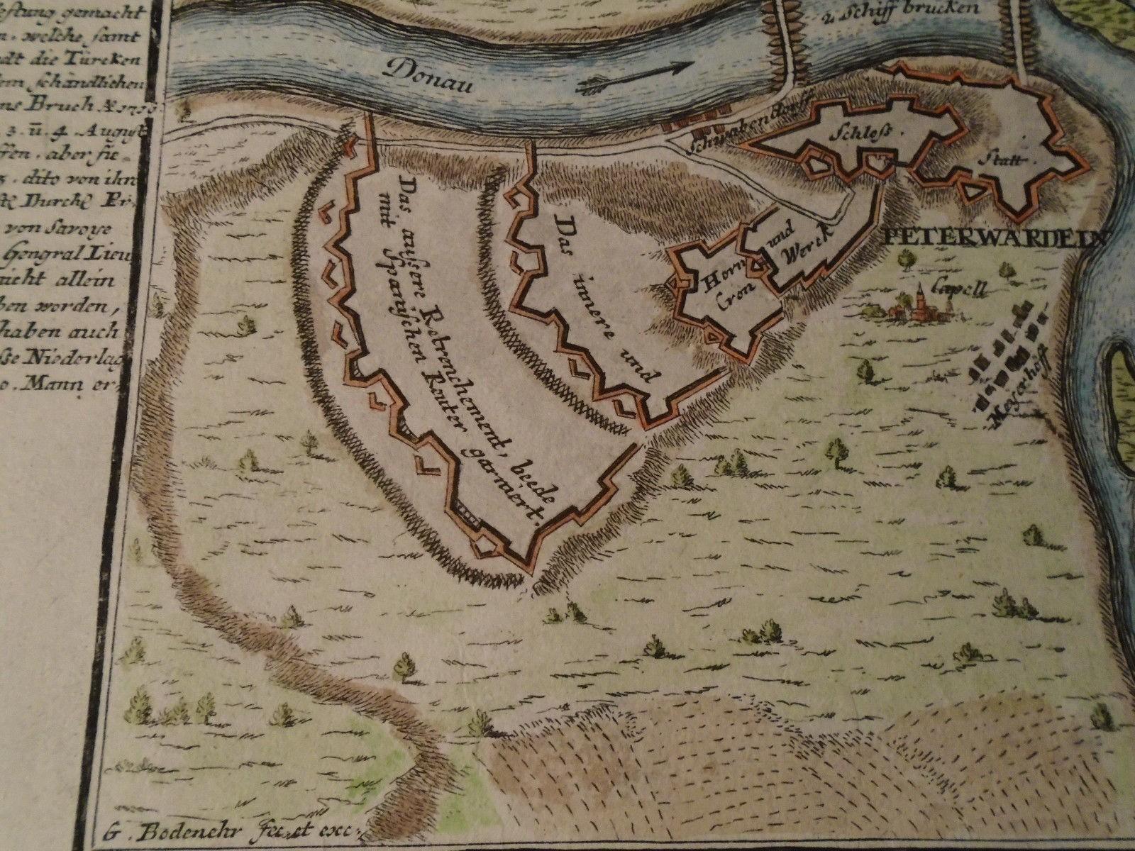 Mapa Petrovaradina 18 Vek Original 61800037 Limundo Com