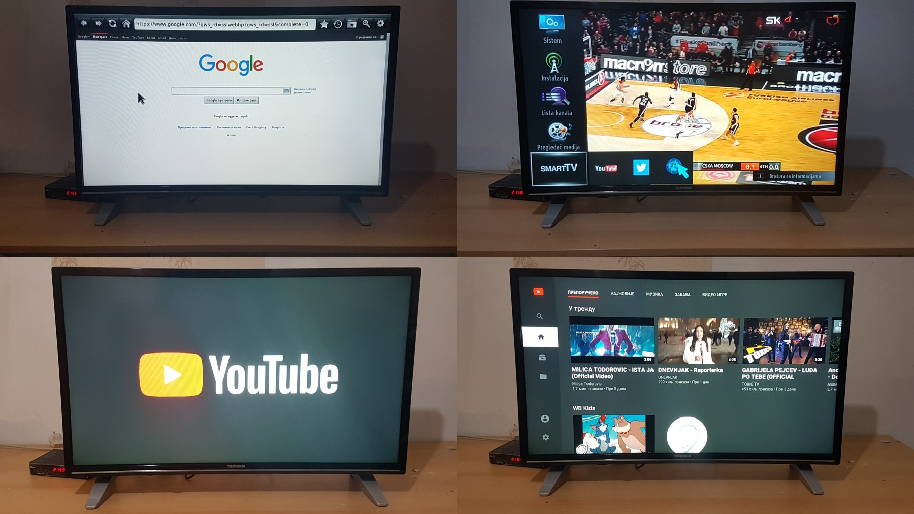 SMART tv TELEFUNKEN 32 inca HDMI,usb,200 HZ,youtube (72390877
