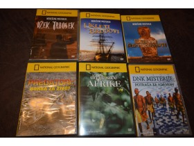 1 - National Geographic DVD  (6 komada)