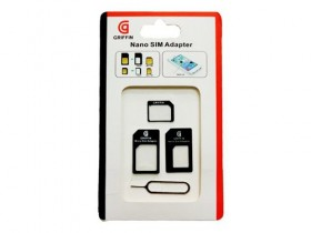 1 dan akcija -Sim Adapter Griffin black -