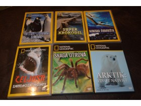 4 - National Geographic DVD  (6 komada) Zivotinje!