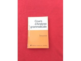 Cours dAnalyse grammaticale