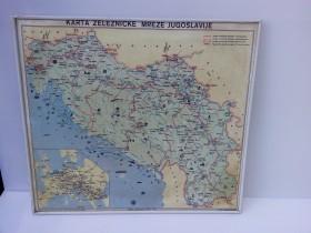 Karta Zeleznicke Mreze Jugoslavije Retko 72148585 Limundo Com