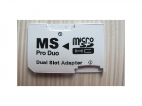 Micro SD to MS Pro Duo Card Dual Slot - NOVO