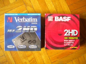 Verbatim MF2HD 1,44 Mb Floppy, BASF 2HD floppy