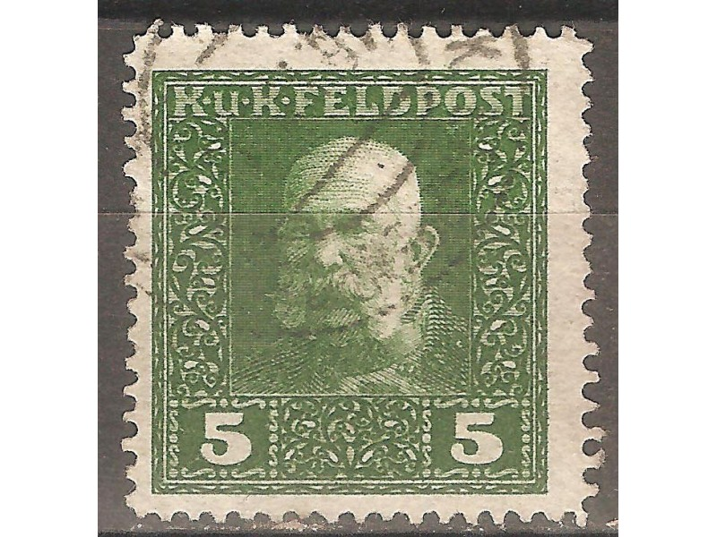 1915 - Austria Field post issue Franz Joseph 5 hel