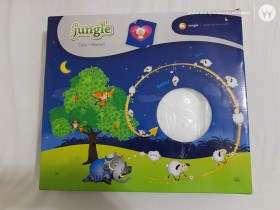 Bebi ćebe belo Jungle 80x110cm