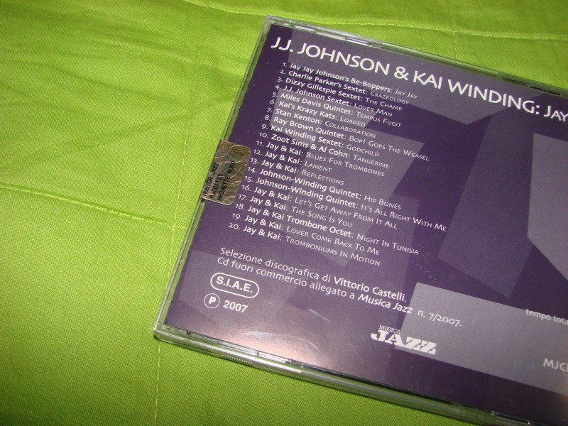 CD, JAZZ, J.J. JOHNSON & KAI WINDING