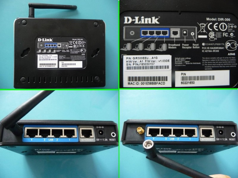 D-Link DIR-300 4-Port 10/100 Wireless N Router