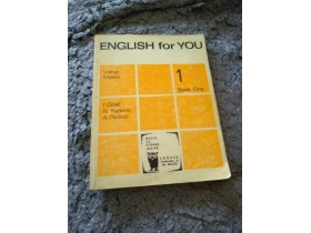 English for you 1 , book one - Visnja Makek