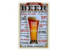 How to order a beer tin sign