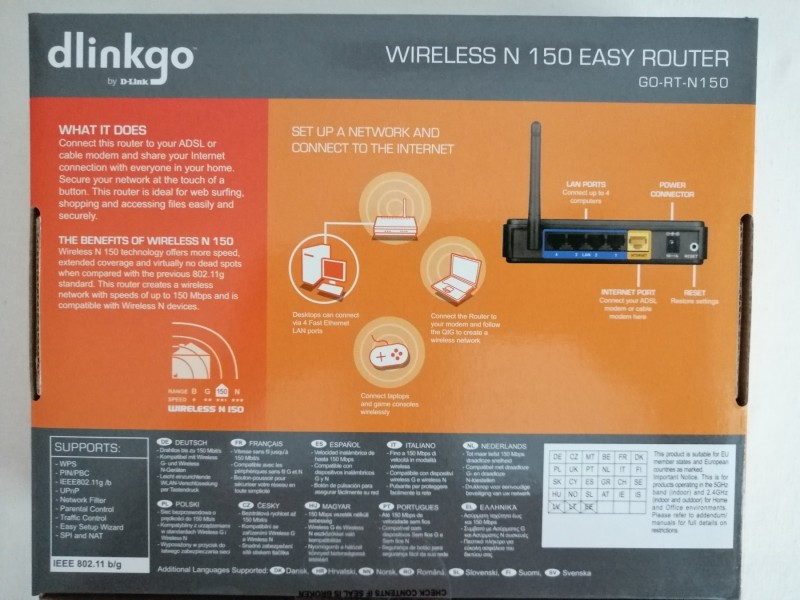 NOV D-link GO-RT-N150 wireless easy router