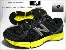 New Balance,Black/yellow,Indonesia. 26,5cm