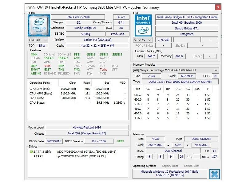 PC HP Compaq 8200/i5 3 1GHz/4GB/500GB (76971251) - Limundo com
