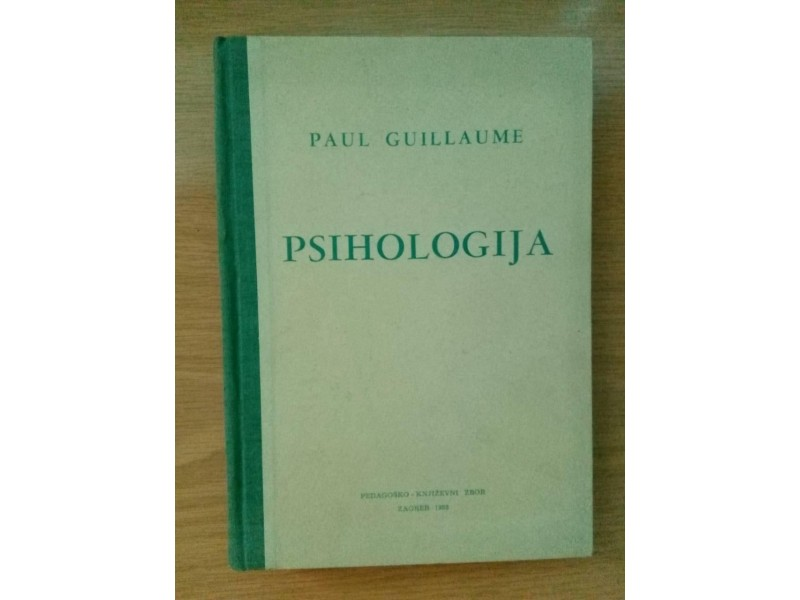PSIHOLOGIJA - Paul Guillaume
