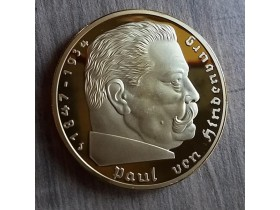 Paul Von Hindenburg kovanica,svastika PROOF 30g. extra