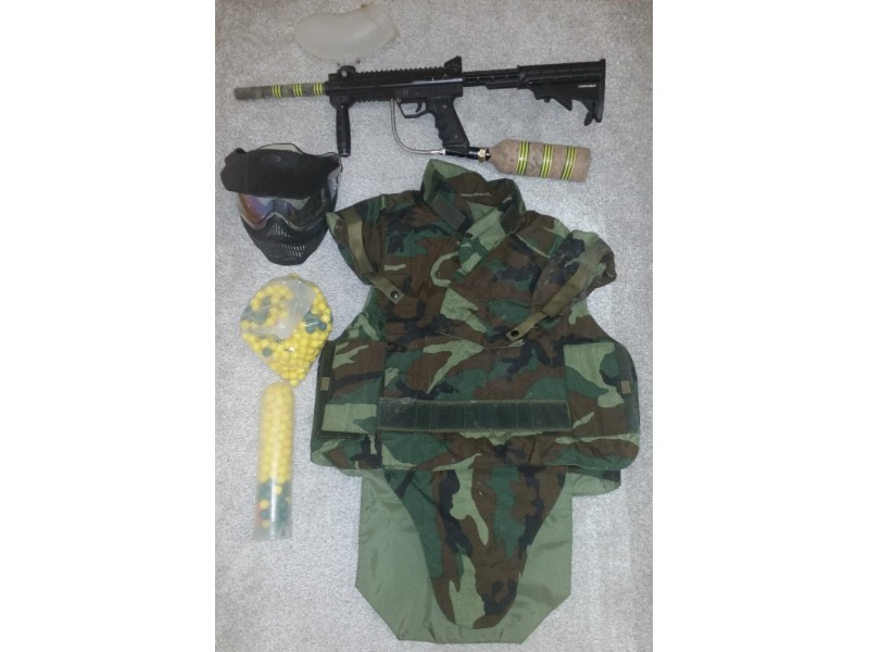 Puška za paintball BT4 COMBAT+OPREMA