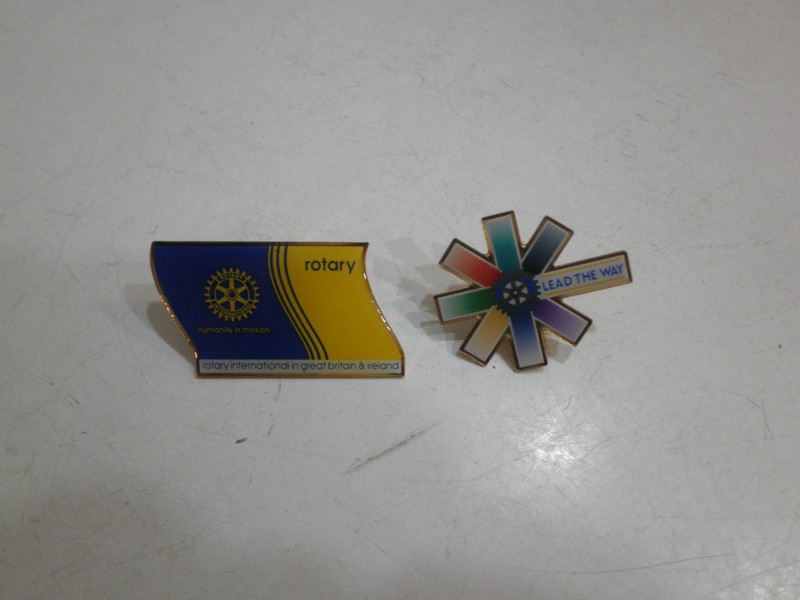 ROTARY INTERNATIONAL DVE EMAJLIRANE OZNAKE