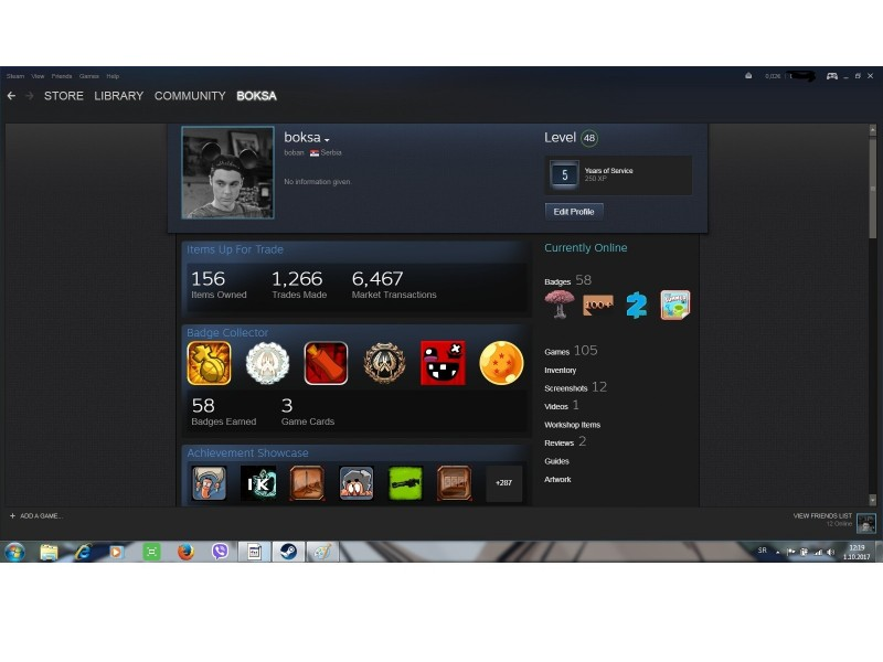 Steam account (116 igrica,lvl 48,wallet, 6godina star)