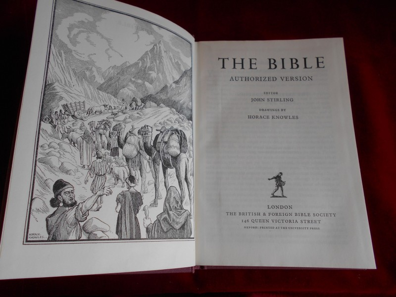 THE BIBLE - AUTHORIZED VERSION -  EDITOR JOHN STIRLING