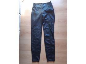 TOM TAILOR DENIM crne 'kozne' helanke