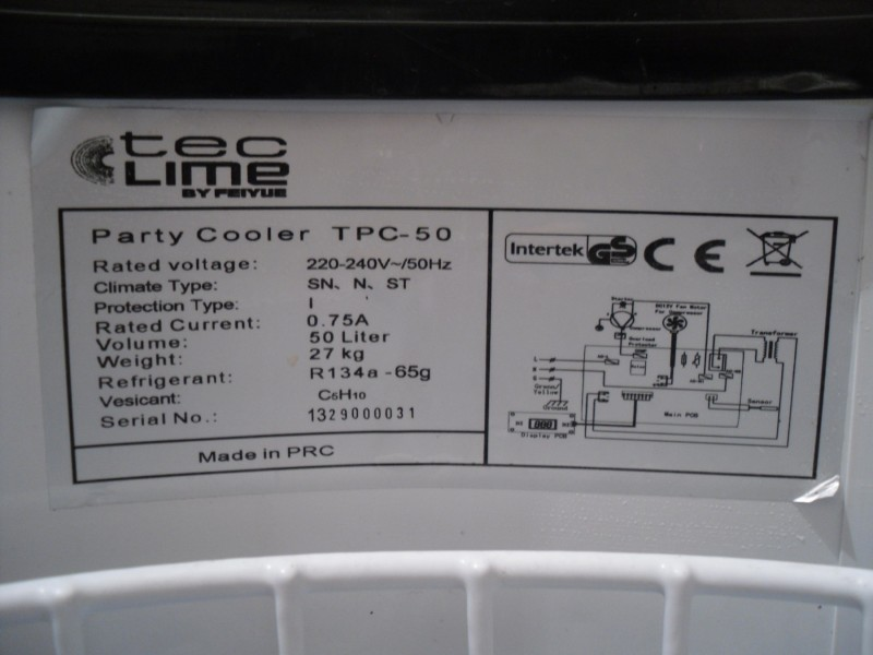 frizider bure INTERTEK tpc-50 party,50l ... IZ NEMACKE